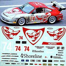 Porsche 911 GT3 RSR Flying Lizard #74 Daytona 2004 1:87 Decal