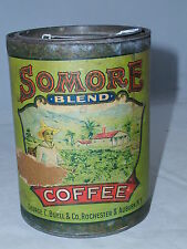 VINTAGE SOMORE COFFEE TIN CAN ADVERTISING PAPER LABLE COLLECTIBLE   914-R