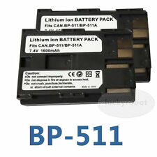 2 Lot Battery for Canon BP-511a EOS D30 D60 FV40 5D 10D 20D 30D 40D 50D 300D