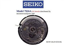 New Seiko Automatic 7S26 A 21 Jewels Watch Movement/Parts Repair .Free Ship