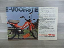 Original old advert. of the 80s - Honda PX 50 - A5