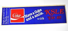 Coca Cola Coke pegatinas 28 x 8 cm de estados unidos 1983 sticker decal-ksle FM 105