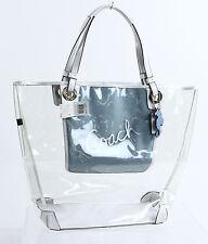 Coach Clear Transparent White Structured Tote Shopper Purse Bag F16594