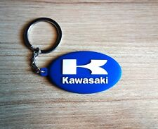Kawasaki Keychain Keyring Blue Rubber Motorcycle Bigbike Collectible New Gift