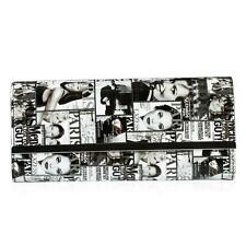 Black and White Fashionista Patent Oversized Clutch Lot 28