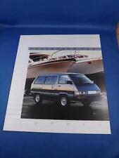 1987 TOYOTA PASSENGER VAN SALES BROCHURE FEATURES SPECIFICATIONS SELECTION