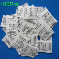 100 Packs Non-Toxic Silica Gel Packets Moistureproof Moisture Absorber Desiccant