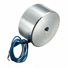 55LB (25kg) Electric Lifting Magnet Electromagnet Solenoid Lift Holding 40mm