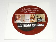 CHRISTINA AGUILERA In Store Play Sampler RARE 12 Trk PROMO CD 2000 New+SEALED