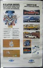 1982 Chevrolet S10 Pickup & Diesel Engine Poster mx339-QUJMTS