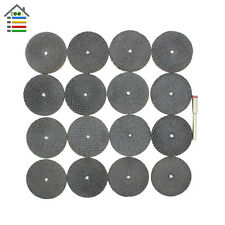 "25pc Fiberglass Reinforced Cut Off Wheel Disc w/  Mandrel 1/8"" Fit Dremel Tool"