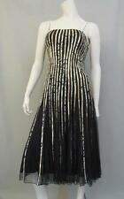 JS Collection Dress Size 8 Striped Fit Flare Stretch Cocktail Knee Length New