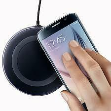 Wireless Qi Charger Charging Pad For Samsung Galaxy S6/S6 Edge Note 5-Black