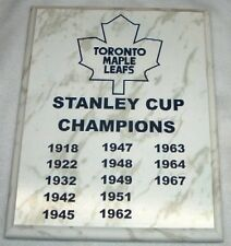 Toronto Maple Leafs Stanley Cup Championship Plaque