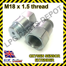 Lambda O2 Oxygen Sensor Extender Spacer for Decat & Hydrogen M18 x D4 hole STEEL