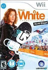Shaun White Snowboarding World Stage W/CASE Nintendo Wii & WII U GAME