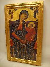 Virgin Mary Jesus Christ Rare Roman Catholic Icon Christianity Art