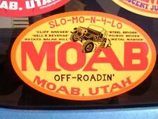 MOAB,Utah,UT,vinyl sticker decal,jeep safari,jamboree,4X4,offroad,rockcrawler