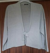Beautiful OSKA Silver Grey Amelie Linen Boxy Jacket Size 2 UK 12-20