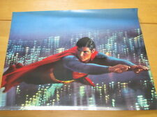 1978 Superman The Movie Poster Flying Christopher Reeve Metropolis at Night DC