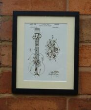 USA Patent Drawing  HULL pickup jazz AMPEG BASS GUITAR MOUNTED PRINT 1966 Gift