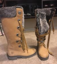 Timberland Knee High Mirney Faux Fur Lined Boots Size 6 1/2