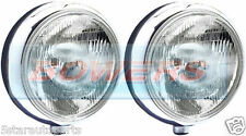 "SIM STAINLESS STEEL CHROME 9"" CIBIE SUPER OSCAR H3 SPOT/DRIVING LAMPS/LIGHTS"