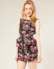 ASOS Glamorous Floral Cut Out Back Dress Size UK 12