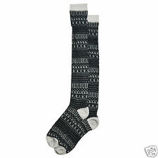 K.Bell Highland Texture Print Black Gray Over The Knee Socks Womans Ladies New