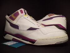 VINTAGE CONVERSE TRIPLE DOUBLE MID-CUT MAGIC JOHNSON LAKERS WHITE PURPLE DS 14