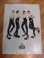 MISS A - HUSH [ORIGINAL POSTER] K-POP *NEW*