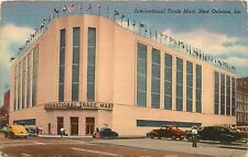 Linen Postcard; International Trade Mart, New Orleans LA, Unposted