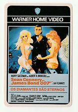 1987 WB Portugese Pocket Calendar James Bond Sean Connery Diamonds Are Forever