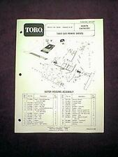 TORO GAS POWER SHOVEL SNOWTHROWER MODEL 38350 - 4000001 & UP PARTS MANUAL 1983