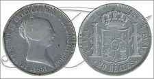 España - Monedas Isabel II- Año: 1851 - numero 00506 - MBC 20 Reales 1851 Madrid