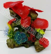 AQUARIUM LARGE RED CORAL GARDEN ORNAMENT, MARINE REEF FISH TANK DECOR