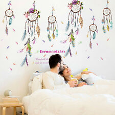 Dream Catcher Wall Decal Dreamcatcher Art Feather Vinyl Sticker Boho Bedroom