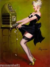 1940s Pin-Up Girl Jackpot! Picture Poster Print Art Vintage Pin Up
