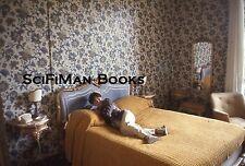 EKTACHROME 35mm Slide Pretty Sexy Woman Hotel Room Bed Wallpaper Fashion 1978!!!