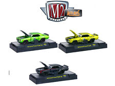 AUTO MODS 1969 CHEVROLET CAMARO, 3 CARS SET W/CASES 1/64 BY M2 32600-AM04