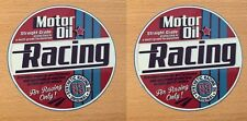 2x Motor Öl Oil Gasoline Aufkleber Sticker Racing Oldtimer Muscle Car V8 M012
