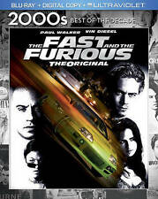 THE FAST & AND THE FURIOUS THE ORIGINAL BLU RAY MOVIE PAUL WALKER FREE SHIPPING