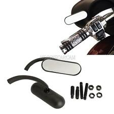 Black Mini Oval Motorcycle Mirrors Fit Harley Dyna Softail Sportster Touring
