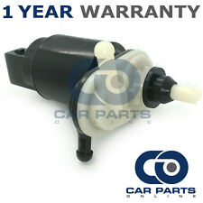 FOR VAUXHALL CORSA C (2000-2006) FRONT & REAR TWIN OUTLET WINDSCREEN WASHER PUMP