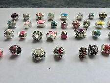 Collection Of 4 X Mixed Colour Oil Drip Charm Bead For European Bracelets