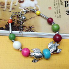 NEW Free shipping Jewelry Tibet silver jade turquoise bead DIY bracelet S278