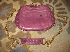 JUICY COUTURE PURPLE CUT OUT QUILTED CHAIN LINK CROSSBODY MESSENGER PURSE BAG