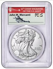 PRESALE - 2016-W Burnished American Silver Eagle - PCGS SP70 - Mercanti FS