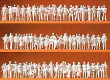 190 unbemalte Figuren für den Architekturmodellbau Preiser 74090 Maßstab 1:100