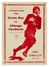 Green Bay Packers vs Chicago Bears *LARGE POSTER* Football nfl 1927 - AMAZING